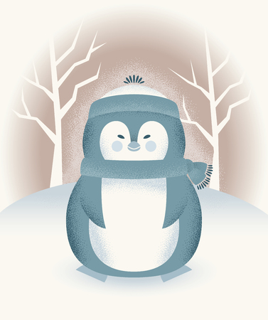 Cute Chubby Winter Penguin