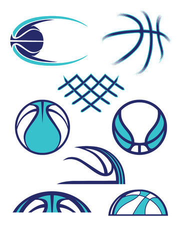 Assorted Simple Abstract Basketball Graphics