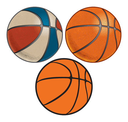 Group of Basketballs Illustration