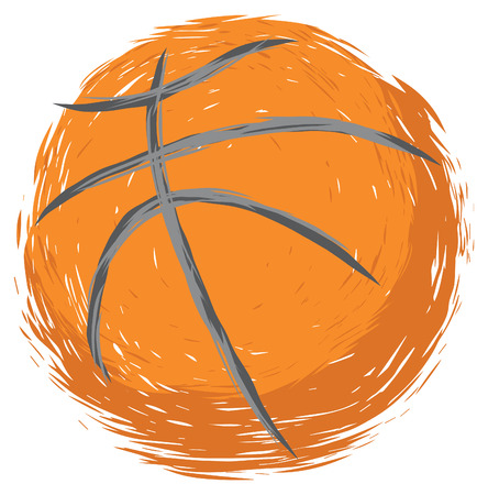 Grunge Style Basketball Design
