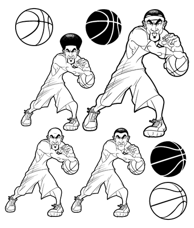 Assorted Basketball Players in Black & White