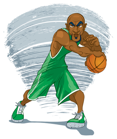 Basketball Player in Green Jersey