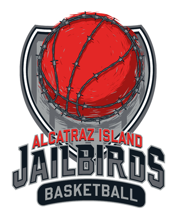 Alcatraz Island Jailbirds Basketball Design