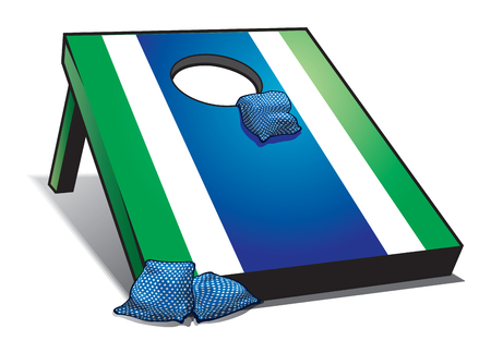 Bean Bag Toss Outdoor Activity Foto de archivo - 114221519