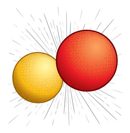 Kickballs of Dodgeballs die met hoge snelheid bewegen