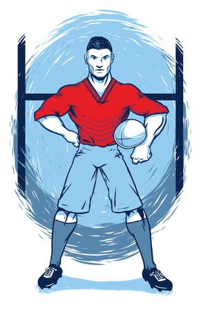 Starker Rugby-Spieler Vektorgrafik