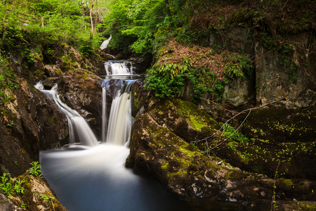 Pecca Falls - one of the stunning cascades on the Ingleton waterfalls trail in North Yorkshire - captured as a long exposure with a ten stop ND filter.