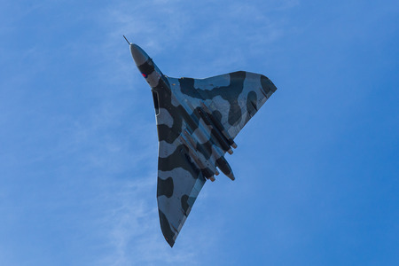 XH558 seen at Southport for the final time.