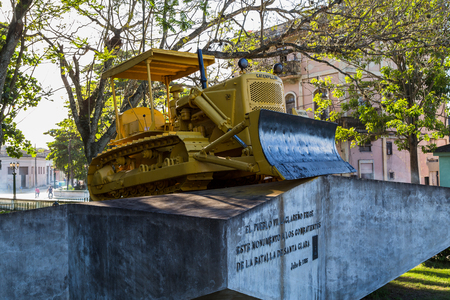 resulted: This is the original bulldozer used at the end of the Battle of Santa Clara & resulted in the derailment & captured of an armoured train.