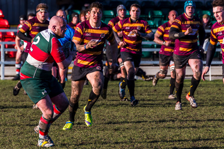 Seen at the home of Waterloo Rugby Club during a RFU National League - National League 3 North game.