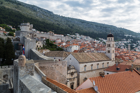 The series of defensive stone walls that have surrounded and protected the citizens of Dubrovnik for hundreds of years. Editorial