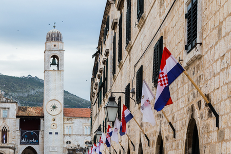 outdoor lighting: The old town is traversed by the main pedestrian promenade, The Stradun or Placa, paved with glistening white the old town.  Limestone constructed open-air cafes and small boutiques line both sides of the main thoroughfare which links both gates to the ol