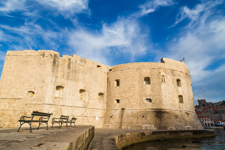 proved: The imposing structure of St John�s Fortress located at the entrance of Dubrovnik�s port.  It was built in the 14th century but had various defence modifications in the 15th and 16th centuries to make it the monumental success it proved to b