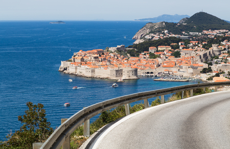 Dubrovnik seen at the foot of the southernmost region of Croatia in South Dalmatia. Editorial