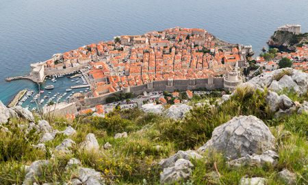 gutted: The slope (facing Dubrovnik) was once rich with pine forests but was almost completely gutted through fires during the Croatian War of Independence. Stock Photo