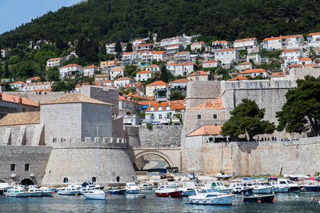 former yugoslavia: Dubrovnik�s old port (known to the locals as Gradska Luka) is the main entry point of the city during the Republic and still contains the remnant arches of the great shipyards. Editorial