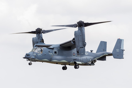 CV-22B Osprey from the USAF seen at the 2017 Royal International Air Tattoo at Royal Air Force Fairford in Gloucestershire - the largest military airshow in the world.