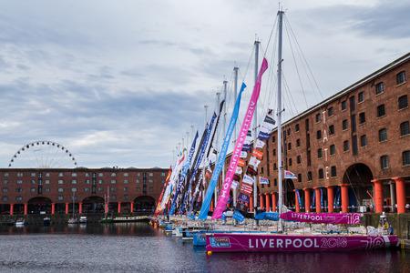 Flotta Clipper a Liverpool pronta per l'inizio della gara.