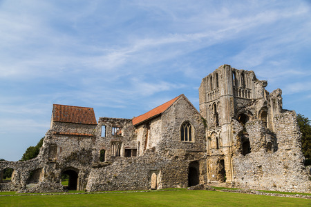 The main building which remains of Castle Acre Priory in the heart of Norfolk, an old Monastery.