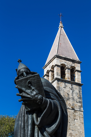 Marko Marulic was a Croatian national poet and Renaissance humanist born in the 15th century.  This remarkable statue stands for the literary presence that is felt throughout Split. The statue was created by Ivan Mestrovic and was unveiled in 1925.