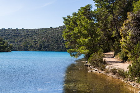 Enjoying the network of paths which criss-cross their way through the forests in Mljet national park.