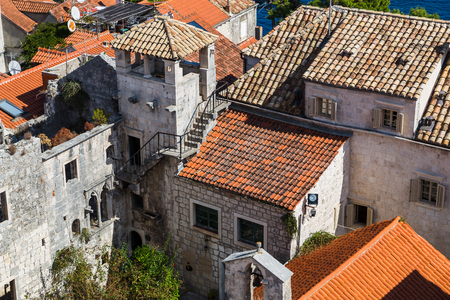 true born: Looking down on the supposed birth place of Marco Polo.  The famous explorer is said to have been born here in 1254. Most scholars agree that Polo spent at least some time in Korcula, so the legend may well be true.