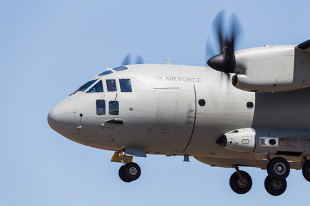 Slovak Air Force C-27J Spartan pictured at the 2018 Royal International Air Tattoo at RAF Fairford in Gloucestershire. Editöryel