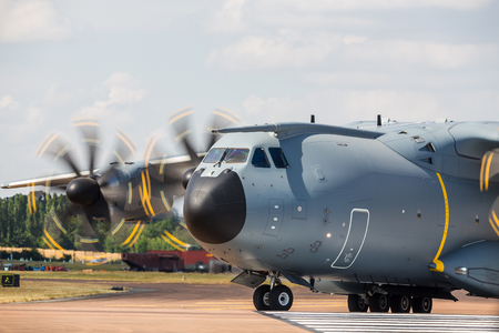 Airbus EC-400 Atlas pictured at the 2018 Royal International Air Tattoo at RAF Fairford in Gloucestershire. Editorial