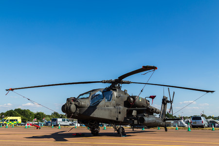 Royal Netherlands Air Force AH-64D Apache pictured at the 2018 Royal International Air Tattoo at RAF Fairford in Gloucestershire. Editorial