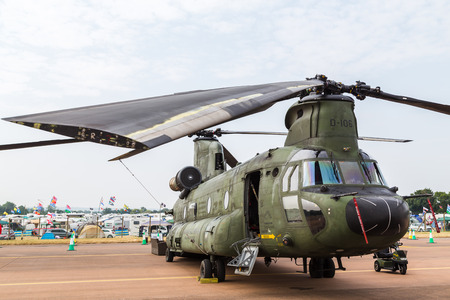Royal Netherlands Air Force CH-47D Chinook pictured at the 2018 Royal International Air Tattoo at RAF Fairford in Gloucestershire.