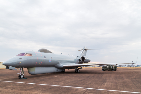 Royal Air Force Sentinel R.1 pictured at the 2018 Royal International Air Tattoo at RAF Fairford in Gloucestershire.