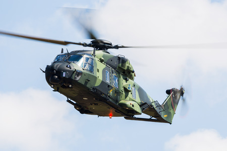 Finnish Army Aviation NH90 TTH pictured at the 2018 Royal International Air Tattoo at RAF Fairford in Gloucestershire.