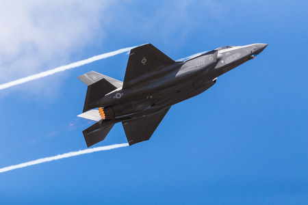 US Air Force F-35A Lightning II pictured at the 2018 Royal International Air Tattoo at RAF Fairford in Gloucestershire.