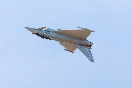 RAF Typhoon FGR.4 capturé au salon aéronautique de Southport en septembre 2019. Banque d'images