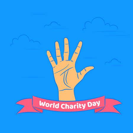 International Day of Charity, 5 September. donate conceptual illustration vector. Illustration