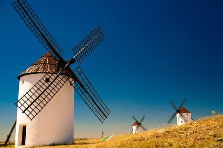 Windmills in LaMancha Stock Photo