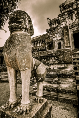 civilisation: Stone murals and sculptures in Angkor wat, Cambodia the impressive temples near siem reap build by the red khmer civilisation  Stock Photo