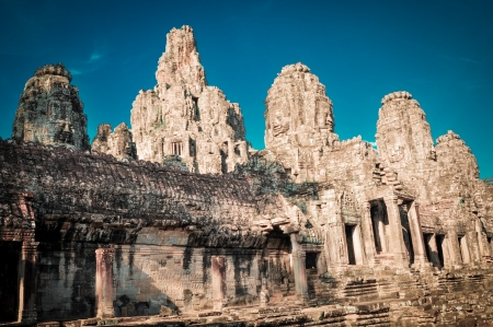 murals: Stone murals and sculptures in Angkor wat, Cambodia the impressive temples near siem reap build by the red khmer civilisation.