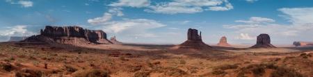 記念碑の谷のパノラマ アメリカ、アリゾナ州の美しい風景 写真素材