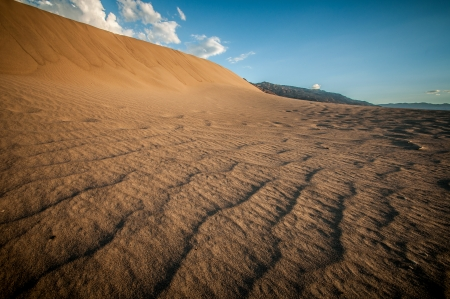 Death Valley sand dune looks like a big wave photo