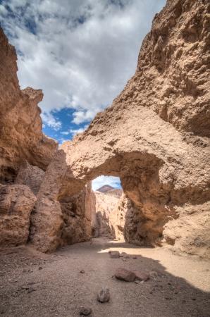Death valley, national park desert, national bridge near devils golf course photo