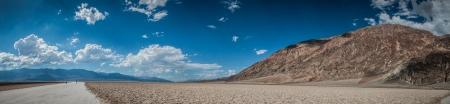 basin mountain: nice Death Valley panorama, panoramic view on bad water basin nevada Stock Photo