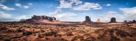 Monument Valley panorama  View form highway into Monument Valley