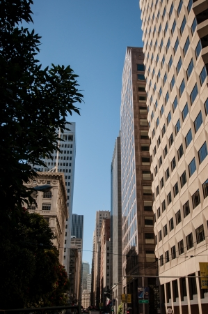 San Francisco Downtown street Skyline view photo