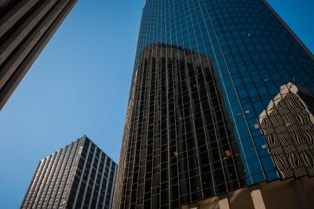 San Francisco bank Downtown Skyline view