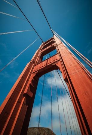 Golden Gate Pillar Bridge in San Francisco, California, USA