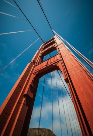 Golden Gate Pillar Bridge in San Francisco, California, USA
