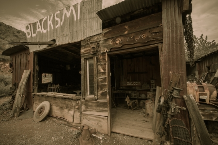 Jerome Arizona Ghost Town mine and saloon photo