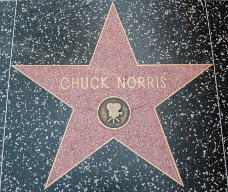 Chuck Norris Hollywood Star on street Los Angeles 2013 Editorial