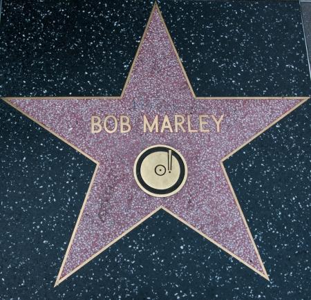 Bob Marley Hollywood Star on street Los Angeles 2013 Editorial